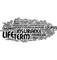 term life insurance for newlyweds text background vector image vector image
