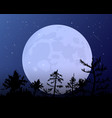 the moon against the blue of the night sky vector image vector image