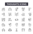 thoughts line icons signs set linear vector image vector image