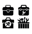 toolbox with tools vector image vector image
