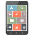 touchscreen smartphone with icons design elements vector image