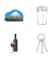 travel alcohol and other web icon in cartoon vector image vector image