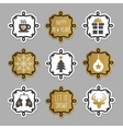 Trendy Christmas and winter tags and stickers set vector image