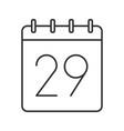 twenty ninth day month linear icon