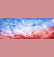 usa independence day abstract crystal background vector image vector image