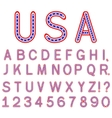 usa symbol alphabet letters isolated vector image vector image