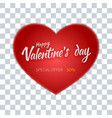 valentines day flyer special sale offer vector image vector image