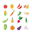 vegetables - modern icons set vector image vector image