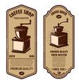 vintage coffee shop flyer templates design vector image vector image