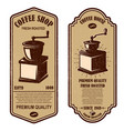 Vintage coffee shop flyer templates design