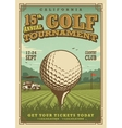 Vintage golf poster vector image vector image