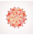 Watercolor red flower mandala vector image vector image