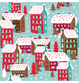 winter township wallpaper vector image vector image
