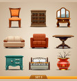 furniture icons-set 5 vector image