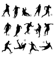 silhouettes of football players vector image