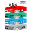 3d overhead platforms with workers for business vector image vector image