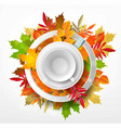 3d with white empty mug and saucer vector image vector image