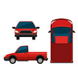 A red truck vector image vector image