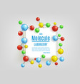 abstract molecule banner set for labs vector image vector image