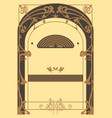 art nouveau backgrounds and frame vector image