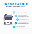 backup data files folder network infographics vector image vector image