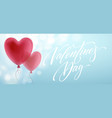 balloon hearts holiday of flying red vector image vector image