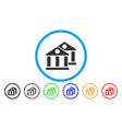 banks rounded icon vector image