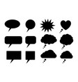 black speech bubbles silhouettes vector image vector image