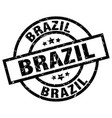 brazil black round grunge stamp vector image vector image