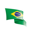 brazil flag on a white vector image vector image