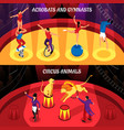 circus professions isometric banners vector image vector image