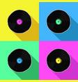 colorful retro music vinyl pop art vector image