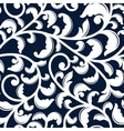 Elegant seamless pattern with white foliage vector image vector image
