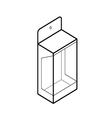 empty showcase box vector image