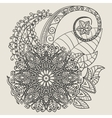 Ethnic Mehndi Tattoo Doodle Henna Paisley Flowers vector image vector image