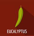 eucalyptus leaf icon flat style vector image