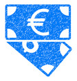 euro and dollar banknotes grunge icon vector image vector image