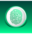 Fingerprint icon finger print id theft macro stamp vector image