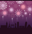 firework decoration night city to event vector image