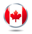 flag button canada vector image vector image