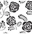 floral seamless pattern with flower rose abstract vector image vector image
