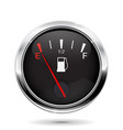 fuel gauge car dashboard sign with empty tank vector image vector image