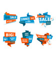 geometrical design forms for banners of shopping vector image vector image