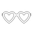 glasses in heart shape icon vector image vector image