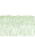 green grass meadow high thick lawn growth hand vector image vector image
