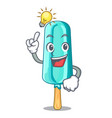 have an idea ice cream shaped stick on mascot vector image
