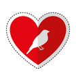 heart romantic with bird vector image vector image
