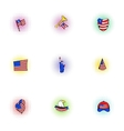 independence usa icons set pop-art style vector image