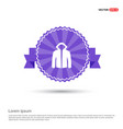 jacket with hood icon - purple ribbon banner vector image