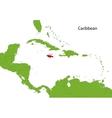 Jamaica map vector image